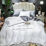 juegos de sábanas de 80,Sumo Tianshi Set de cuatro piezas, lavado de agua europeo Seda Extra Rey Diuvet Conjunto de soltero cama doble cama Bordado de cama, Dormitorio Regalo de la habitación para ni