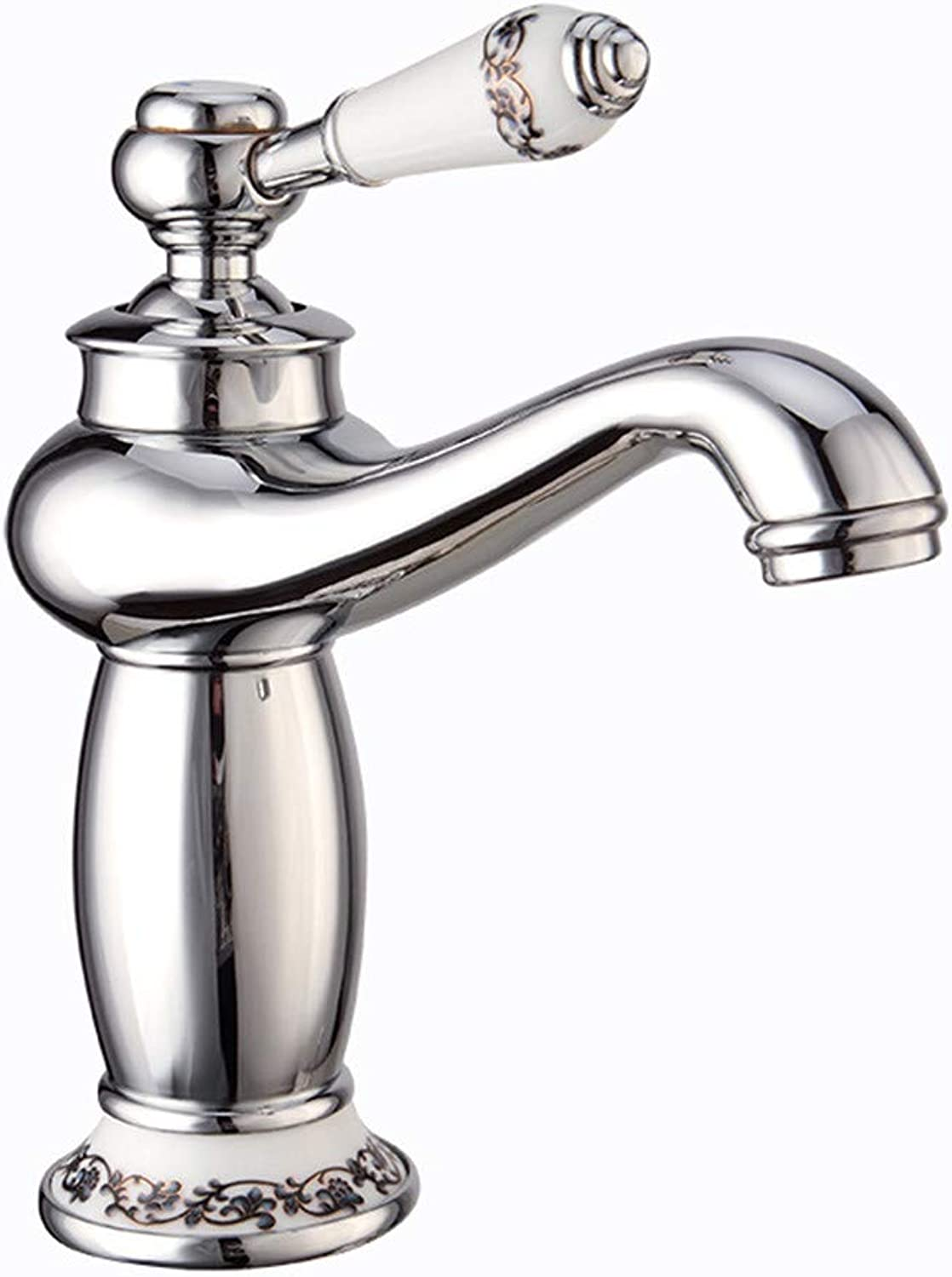 Mucert Tap,All Copper,Hot and Cold Water Mixing Faucet,Single Hole,Basin Faucet