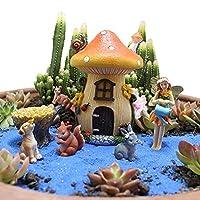 LIYOUPIN 動物のキノコの庭の装キノコの庭の装飾キノコの装飾合成樹脂のキノコ庭庭妖精の庭のための装飾品を作るきのこ花妖精動物の花飾りガーデンレジンデコレーションバースデーケーキデコレーション屋外コートヤードガーデンオーナメントコートヤードデコレーションパティオ芝生バルコニーデコレーション用