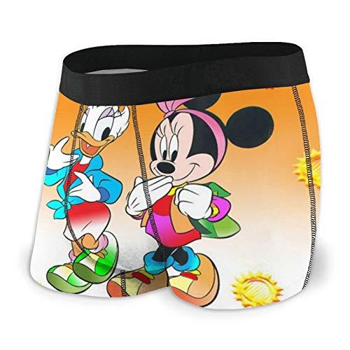 Zsrgvdrf Cartoon Donald Duck Herren Boxershorts S-XXL Druck Unterhose Design Super Weich Bequem Und Atmungsaktiv Und Elastisch Schwarz Gr. M, Schwarz
