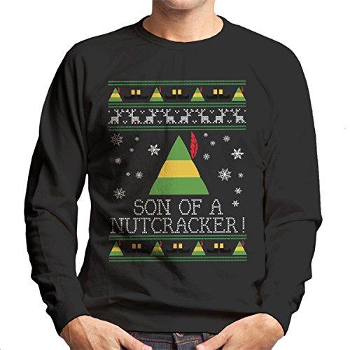 Zoon van een notenkraker Elf Citaat Kerstmis Knit Heren Sweatshirt