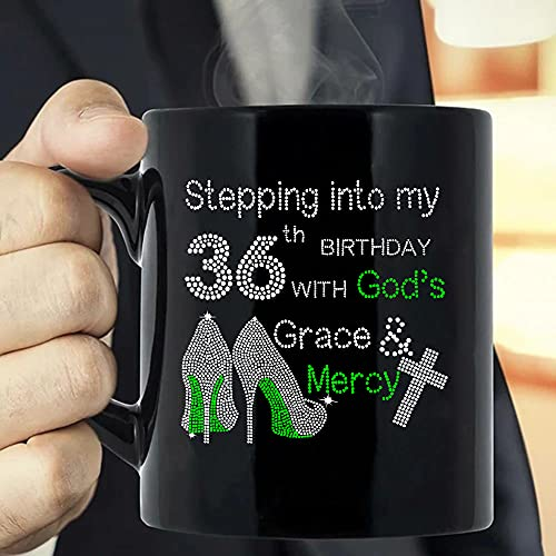 Situen Stepping Into My 40th Birthday With God's Grace And Mercy Coffee Mug - The Funny Coffee Mugs For Halloween, Holiday, Christmas Party Decoration 11-15 Ounce Cettire