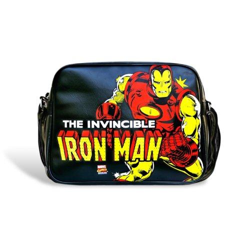 Elbenwald Iron Man Tasche Marvel Umhängtasche, Comic Bag, großes Motiv, 37 x 27 x 9 cm