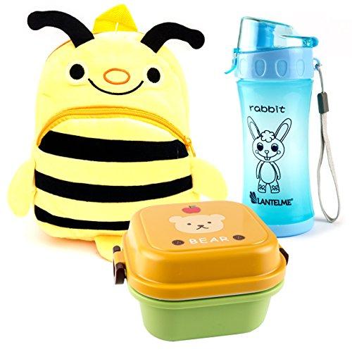 Lantelme 5992Zainetto ape-Contenitore per il pranzo e borraccia in Set per bambino giardino-asili e in viaggio