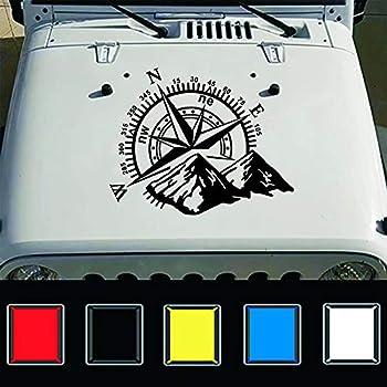 Mode Auto Kompass Rose Navigieren Offroad Vinyl Aufkleber Auto Auto Dekoration Auto