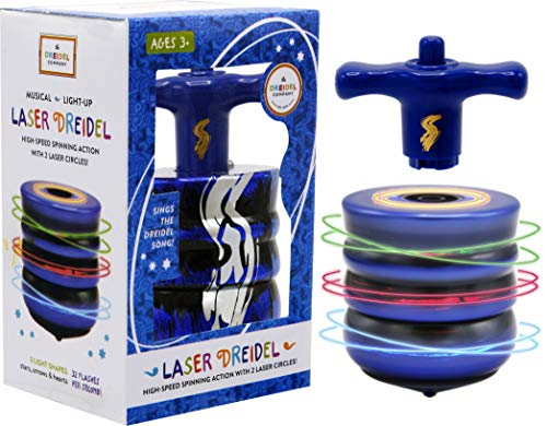 The Most Amazing Musical Light-Up Laser Dreidel for Chanukah/Hanukkah Fun Ages 3 & Up!