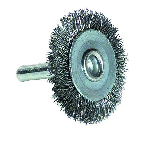 TIVOLY Xt20211000204 Brosse Circulaire pour Perceuse, Queue 6mm, Fil Acier Ondulé, Décapage du Métal Ø 100mm abrasives