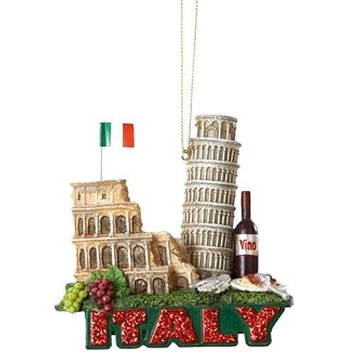 "3.25"" Glittered International City of Travel Italy Christmas Ornament"