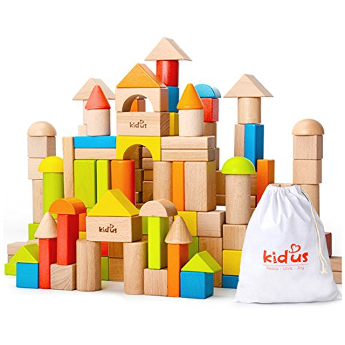 KAJA Classic Wooden Building Blocks Sets...