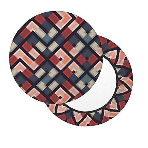Funda de Asiento para Silla Patrón de geometría Material Ploiéster Duradero Fundas Decorativas para sillas de Comedor 12-14in