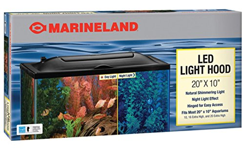 Marineland LED Light Hood for Aquariums, Day & Night Light, 20- by 10-Inch (16341)