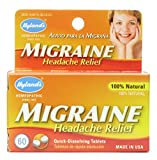Hyland's Homeopathic Migraine Headache Relief Formula, 60 Count