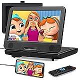 10,1 ' Reproductor de DVD portátil con Entrada HDMI, Batería de 5000 mAH, Soporte de Sincronización de Móvil / TV, CD / DVD / USB, Soporte para Reposacabezas de Coche - NAVISKAUTO