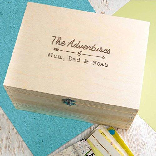 Personalisierte Familien Abenteuer Kiste - Erinnerungsbox - Mama Papa Kind Geschenk von Sohn und Tochter - Weihnachtsgeschenk für Eltern