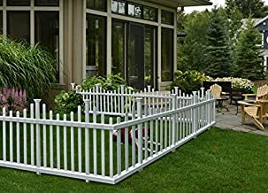 """Zippity Outdoor Products ZP19001 Madison Vinyl Picket Fence, White, 30"""" x 56"""" (3 Boxes Pack of 6 Panels)"""