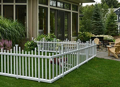 Zippity Outdoor Products ZP19001 Madison Vinyl Picket Fence, White, 30