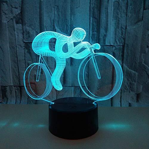 Nueva bicicleta 3d luz nocturna Usb Power Led 3d luz