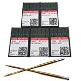 GROZ-BECKERT Needle - 50PCS Groz Beckert DBXK5 GEBEDUR Titanium Industrial Embroidery Machine Needles 8# 9# 10# 11# 12#