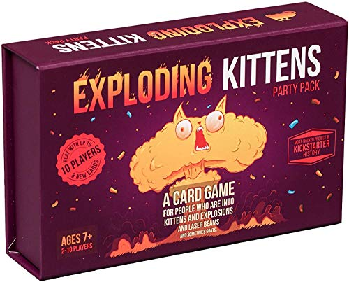 Exploding Kittens Party - A Russian Roulette Card Game, Easy Family-Friendly Party Games - Card Games for Adults, Teens & Kids - 2-10 Players