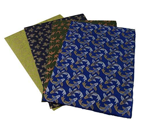 Maharanis Fairtrade Handgeschöpftes Papier Lokta Daphne Papier zum Verpacken, Basteln und mehr 4er Set aus nachhaltiger Handwerksfertigung blau grün