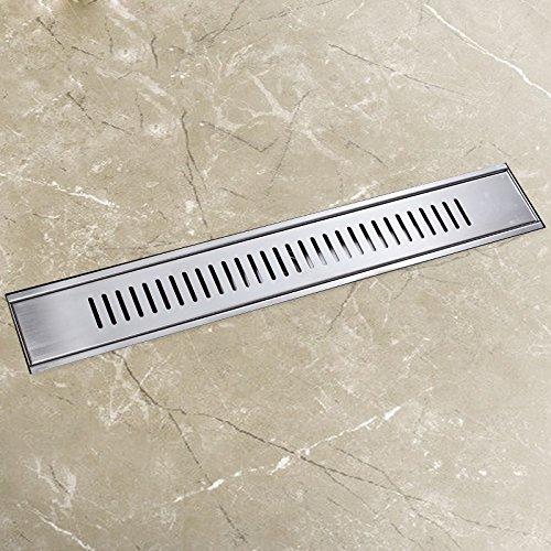 SDKKY l'odeur des drains de plancher rectangulaire de drains de plancher une couverture de base filtrer l'écran des insectes et des drains de plancher en acier inoxydable de désodorisation 304