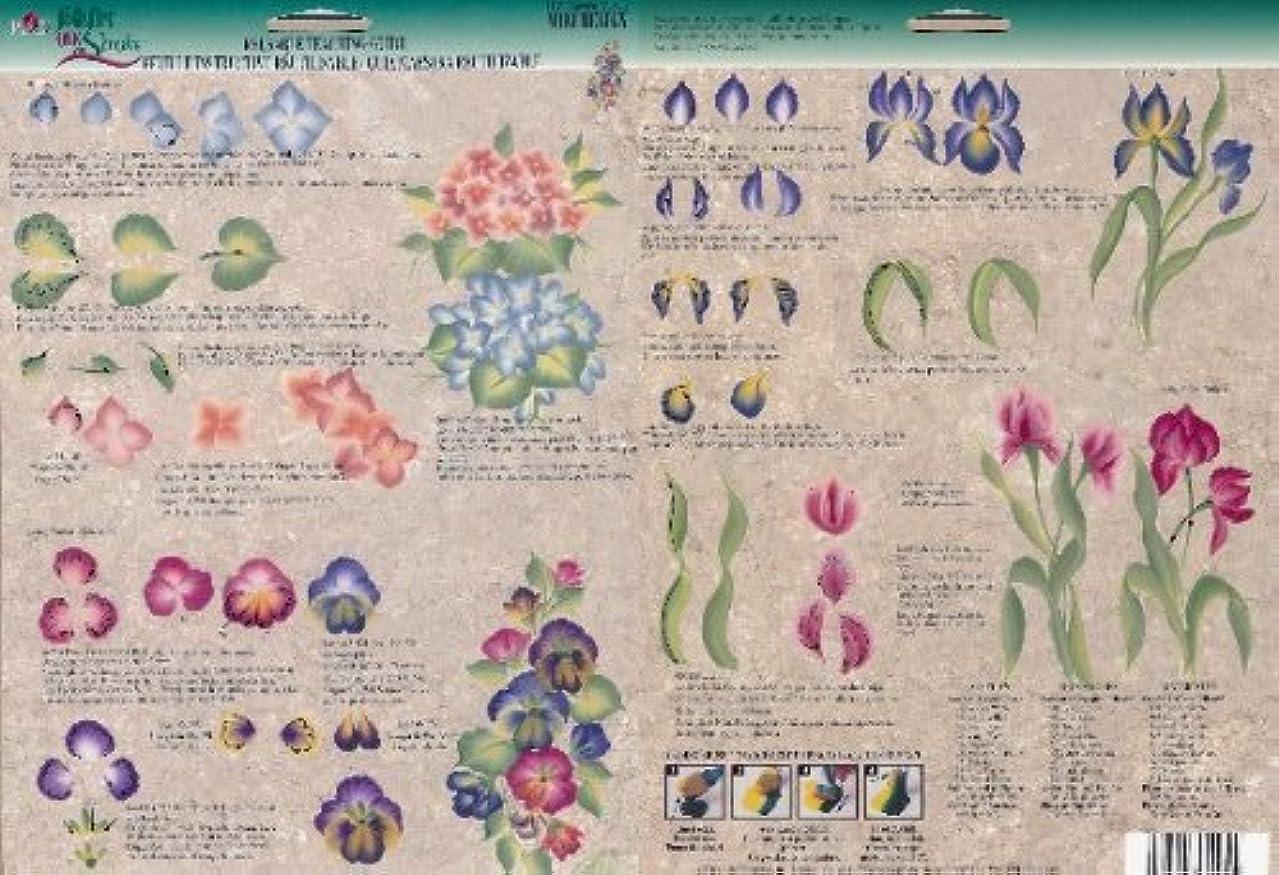Plaid Folk Art One Stroke Reusable Painting Teaching Guide: (Mini Garden)