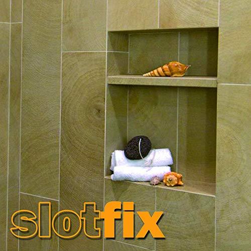 SLOTFIX | montageklare wandversiering binnenmaten 60x30x10cm douchebak dubbele opbergruimte universeel voor droogbouw wandwand massief wand