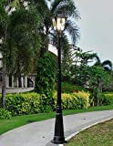 Cristal Europeo Villa Alta Polo paisaje decor accesorio Jardín High Light Linterna Farola victoriano impermeable al aire libre Columna Lámpara pie Lámpara Linterna Villa Park luz lámpara E27 carretera