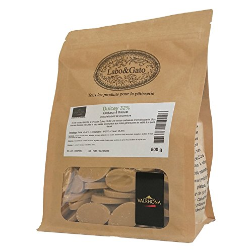 Valrhona - Dulcey 32% chocolat blond de couverture fèves 500 g