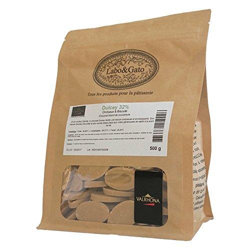 Valrhona - Dulcey 32% chocolat blond de couverture fèves 500 g