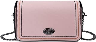 Simple Solid Color Sewing Thread Single Shoulder Envelope Package (Pink) Girls Handbag