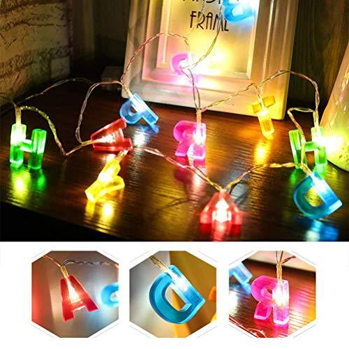 ATPWONZ LED Lichterkette LED Lichterkette Happy Birthday Buchstaben Lichterkette für Geburtstags-Party (Batterie betrieben)
