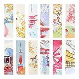 YOSCO 紙製しおり ブックマーク おしゃれ かわいい 紅葉 桜 鯉のぼり 雪 猫 30枚入り (少女)