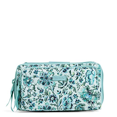 Vera Bradley Signature Cotton Deluxe All Together Crossbody Purse with RFID Protection, Cloud Vine