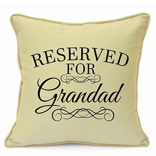 Personalised Presents Gifts For Grandad Father Grandpa Fathers Day Birthday Christmas Reserved For Grandad Cushion Cover 18 Inch 45 Cm Living Room Sofa Chair Home Decor Ideas