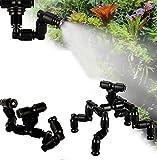 YEIU Ugello per terrari per rettili, Sprinkler Sistema di Raffreddamento rotativo a 360 ° Sistema Ecologico Ugello di spruzzatura del Serbatoio,4heads