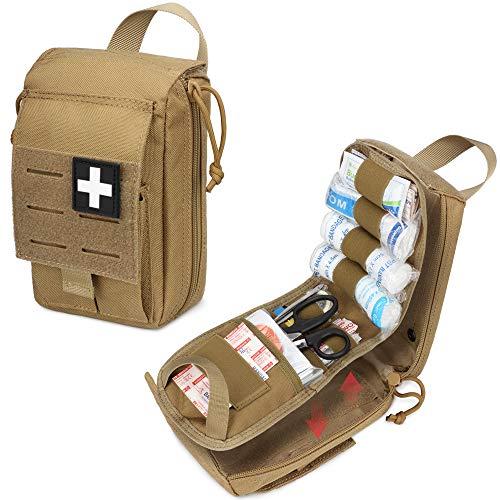 WYNEX Tactical Rip Away Erste-Hilfe-Beutel, lasergeschnittenes Design Molle EMT-Tasche Survival IFAK-Beutel Blasen den medizinischen Notfallorganisator aus
