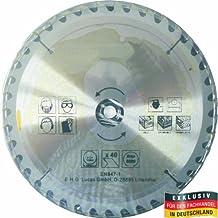 MASTERP–Hoja de sierra circular 230mm, 40dientes especialmente endurecidos, edición para madera con sierra circular de mano