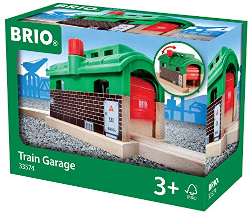 BRIO World Train Garage for Kids age 3 years and up compatible with all BRIO train sets