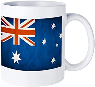 Australia Flag Novelty Ceramic Coffee Mug, Funny Tea Cup, Festival Gift, Holidays Water Cup, 11 Ounce White