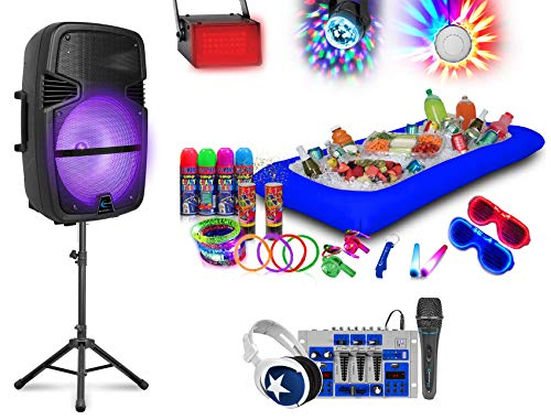 Best Review Of Technical Pro Bluetooth Karaoke Machine System w/Speaker+Mixer+Stand+Mic+Lights