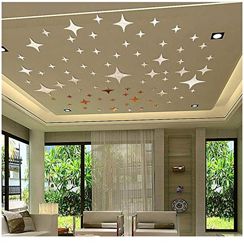 3D Acrylic Star Shape Wall Stickers Mirror Surface for Living Room Bed Room Ceiling Wall Sticker Home Decoration Wall Decals