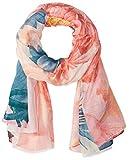 Desigual Damen Schal Stola NEW VALKIRA RECTANGLE Polyester 195cm Rosa 18SAWWA2-1001