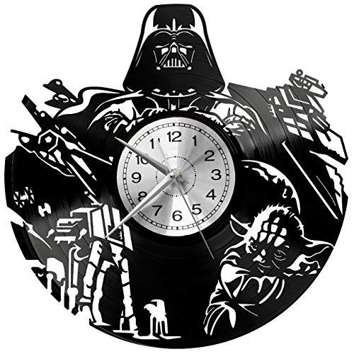 EVEVO Star Wars Wanduhr Vinyl Schallplatte Retro-Uhr groß Uhren Style Raum Home Dekorationen Tolles Geschenk Wanduhr Star Wars