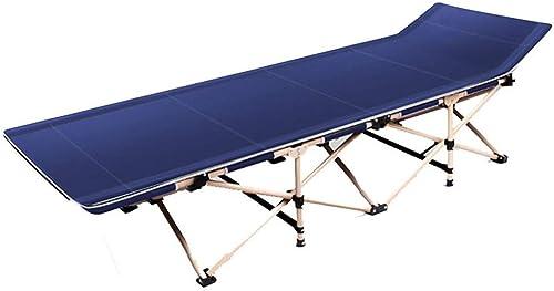 Kylinazq Lit de Camping Pliant for Adultes, lit de Camping Pliable portatif, lit de bébé Compact Robuste en Aluminium for la pêche en Plein air sous la Tente de Camping (Couleur   A)