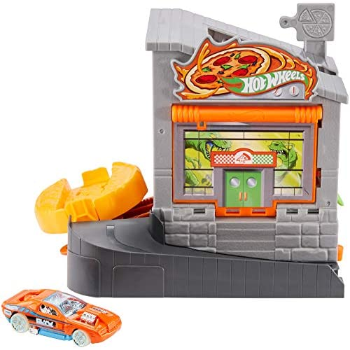 Hot Wheels GBF90 Pizza Rotante Playset per Macchinine con Veicolo, Gioco per Bambini di 4 + Anni