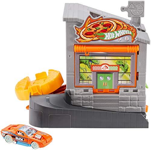 Mattel Hot Wheels-City Dino-Ataque a la pizzería, Pistas de