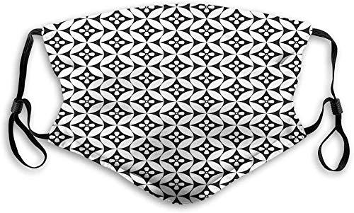Not Wiederverwendbares Gesicht M-a-sk Für Mosaik aus Blumenkreisen Altmodisches geometrisches Muster Optischer Effektfilter Komfortabler Ohrbügel Größe: M.