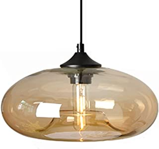 Sponsored Ad – HJXDtech 28cm Large Glass Lampshade Pendant Lighting Industrial Vintage Loft Bar E27 Ceiling Hanging Lamp D...