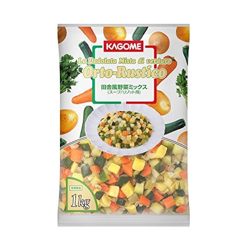 【冷凍】 業務用 田舎風 野菜 ミックス 1kg 冷凍野菜 ミックスベジタブル カゴメ